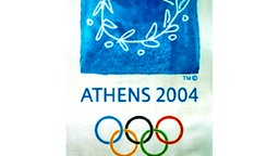 Das Poster für die Olympischen Spiele 2004 in Athen. © picture-alliance / dpa