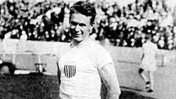 Charles William Paddock, der US-amerikanische Sieger über 100 m. © picture-alliance/ dpa
