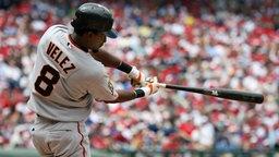 Auf den Schwung kommt es an: Der Schlagmann beim Baseball. © picture-alliance / Icon SMI