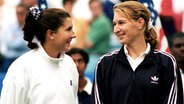 Monica Seles (l.) und Steffi Graf © picture-alliance