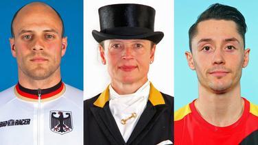 Maximilian Levy, Isabell Werth und Andreas Toba (Fotomontage, v.l.) © imago images / Eibner