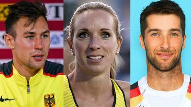Niklas Kaul, Cindy Roleder und Jonathan Koch (v.l., Fotomontage) © imago images / Beautiful Sports / Laci Perenyi / Eibner