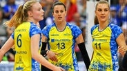 Jennifer Geerties, McKenzie Adams und Beta Dumancic (v.l.) vom SSC Schwerin © imago images / Beautiful Sports