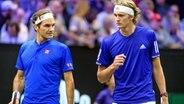 Roger Federer (l.) And Alexander Zverev © image / Icon SMI