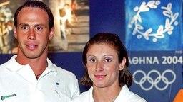 Die griechischen Sprinter Kostas Kenteris und Ekaterina Thanou © Picture Alliance