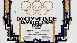 Eine Urkunde der Olympischen Spiele von Amsterdam 1928. © picture-alliance/ dpa