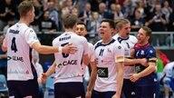 Jubel bei den Lüneburger Volleyballern