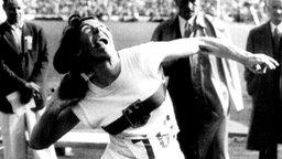 Die deutsche Silbermedaille im Kugelstoßen der Frauen: Marianne Werner © picture-alliance / dpa