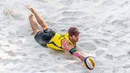 Beachvolleyballer Clemens Wickler in Aktion © imago images / Beautiful Sports