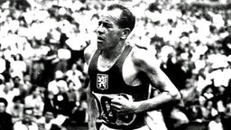 Der legendäre tschechoslowakische Langstreckenläufer Emil Zatopek 1948 in London. © picture-alliance / dpa