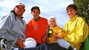 The Tennis -Familie Zverev 1998: Vater Alexander senior, Mischa, Alexander junior and Mutter Irina (vl) © Witters Photo: Wilfried Witters