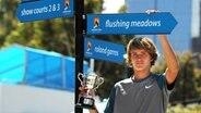 Tennis Junior Alexander Zverev After Seinem Sieg bei Australian Open 2014 © image / Paul Zimmer Photo: Paul Zimmer
