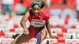 Die US-amerikanische Hürdensprinterin Kendra Harrison verpasste ihre Olympia-Qualifikation. © dpa Bildfunk Foto: Michael Kappele