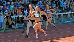 Verena Sailer stellt 2012 in Weinheim mit 11,05 Sekunden ihre persönliche Bestzeit über 100 Meter auf. © picture alliance / Fotoagentur Kunz Foto: AUGENKLICK/KUNZ/BERNHARD KUNZ