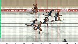 Verena Sailer (r.) gewinnt die Goldmedaille über 100 m der Frauen bei der Leichtathletik-EM 2010 in Barcelona. © picture alliance / Fotoagentur Kunz Foto: Anke Fleig/SVEN SIMON