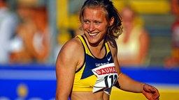 Verena Sailer gewinnt die Deutsche Meisterschaft über 100 m 2006 in Ulm. © imago / MIS Foto: MIS