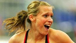 Verena Sailer (l.) gewinnt Bronze über 60 m bei der Hallen-Europameisterschaft 2009 in Turin. © imago/Cordon Press/Miguelez Sports Foto: Cordon Press/Miguelez Sports