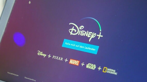 Auf der Website von Disney.de wird das kommende Streamingangebot beworben, das Inhalte von Pixar, Star Wars und Marvel umfasst. © NDR