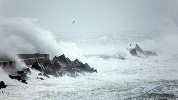 Sturm vor der Küste Helgolands © picture alliance / Arco Images Foto: H. Marschall