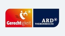 """Logo """"ARD Themenwoche Gerechtigkeit"""" © ARD Design und Präsentation"""