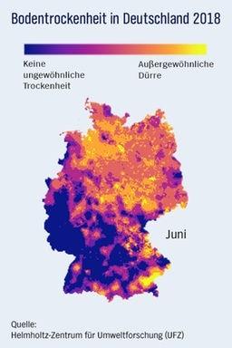 Wo der Klimawandel Deutschlands Böden austrocknet