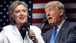Hillary Clinton und Donald Trump. (Bildmontage) © imago Fotograf: ZUMA Press