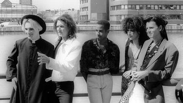 Duran Duran 1989 (v. li.): Nick Rhodes, Simon Le Bon, Sterling Campbell, Warren Cuccurullo, John Taylor © Picture-Alliance / Photoshot