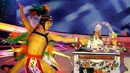 """""""Dustin the Turkey"""" beim irischen Vorentscheid 2008. Die Handpuppe tritt für Irland beim Eurovision Song Contest an."""