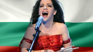 Elitsa Todorova vor der Bulgarischen Flagge. (Bildmontage) © Fahne: Fotolia, Quelle Künstler: NDR Foto: Fahne: Juergen Priewe, Fotograf Künstler: Rolf Klatt
