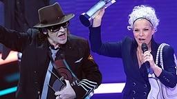 Udo Lindenberg und Ina Müller- doppelte Preisträger beim ECHO 2012 (Montage) © picture-alliance / dpa Foto: Michael Kappeler