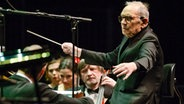 Ennio Morricone bei einem Konzert in London im Februar 2015 © Picture-Alliance / Photoshot