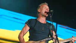Sting mit The Police beim Open Air in Hamburg am 11.9.2007 © NDR 2 / Marco Maas Foto: Marco Maas