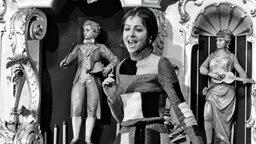 Vicky Leandros bei einem Auftritt 1969 in der Aktuellen Schaubude vom Bremer Freimarkt.