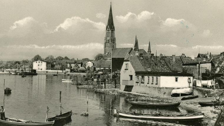 Ein historisches Foto der Schleswig Holmer Bucht. © Stadtarchiv Schleswig