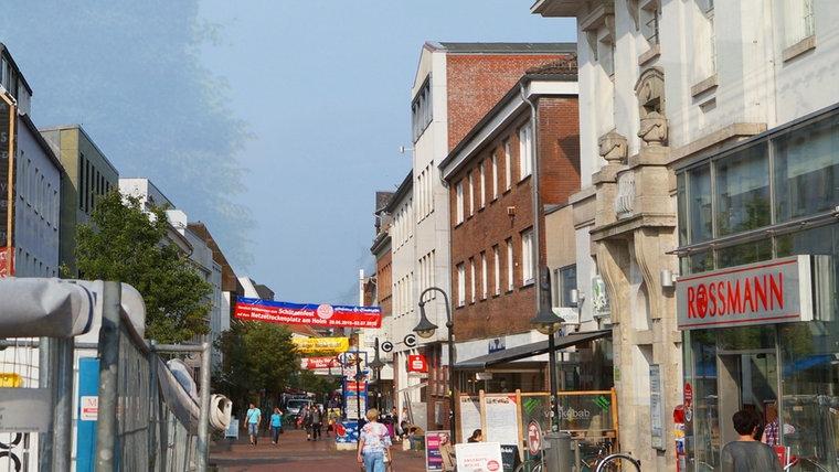 Neues Foto des Stadtwegs mit Postamt in Schleswig © NDR Foto: Peer-Axel Kroeske