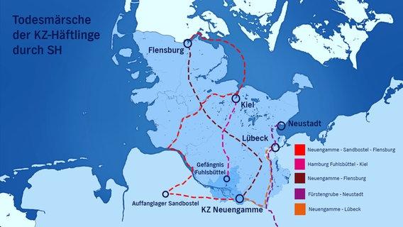 Schlachtfelder Des 2 Weltkriegs Karte.Todesmarsche Durch Schleswig Holstein Ndr De Geschichte